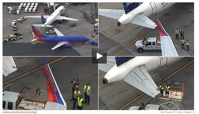 2014.06.09 Samolot linii Southwest uderzy³ wingletem w statecznik poziomy JetBlue-samolot.jpg